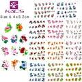 2016 Nueva BJC177-187 11 hoja/SET Tip Nail Art Glitter Flor pegatinas de Uñas para uñas Nail Decal Manicura Flor para Las Mujeres