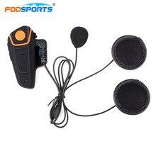 Fodsports BT S2 Pro Citofono del Casco Del Motociclo Auricolare Impermeabile Senza Fili di Bluetooth BT Interphone FM Radio Stereo di Musica