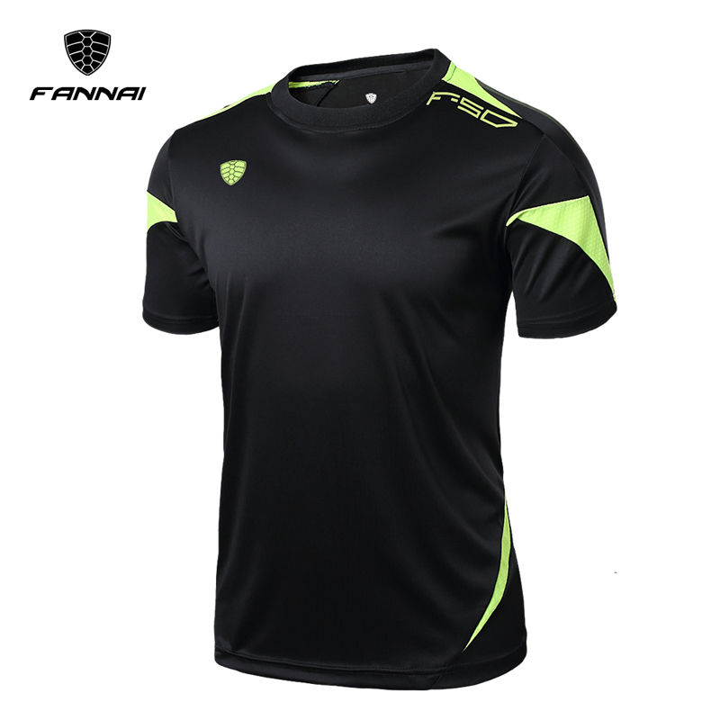 FANNAI T Shirt Men Sport Tops & Tees Quick Dry Shirts Fit T-shirt Men's Custom Running Clothing Breathable Short sleeve MMA fashion long sleeve o neck t shirt 2017 new arrival men t shirts tops tees men s cotton t shirts 3colors men t shirts m xxl