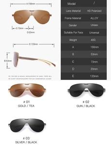 Image 2 - ZJHZQZ Oversized Pilot Polarized Sunglasses Siamese Film Avaiation Brown Black Silver Men Eyeglasses Women Glasses UV400 Eyewear