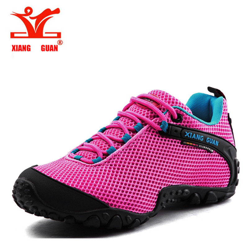 XIANGGUAN Waterproof Hiking Mountain Shoes For Men Climbing Mesh Man s Trekking font b Sneakers b