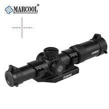 MARCOOL AK 1-6X24 HD Illuminated Tactical Hunting Riflescope Optical Collimator Sight Aim Red Dot Rifle Scope Sniper