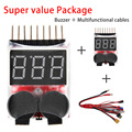 1-8S Low Voltage battery tester Buzzer Alarm + Futaba TRX EC3 JST XT60 Multifunctional Lipo charger RC charger adaptor