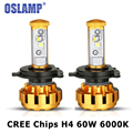 Oslamp H4 LED Headlight Blub 60W CREE Chips Hi-Lo Beam Auto LED Headlights h4 Head Lamp 3600LM 6000K Led Headlamp Fog Light