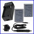 Battery (2-Pack) + Charger for Olympus BCN-1, BCN1, BCN 1, BLN-1, BLN1, BLN 1 Lithum Ion Rechargeable 7.6V 1220MAH