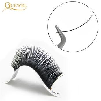 Quewel Flat Lashes Extension For Professionals Ellipse Flat Lash Split Tip profession Soft Silk Quewel Flat Eyelash C/D Curl 5
