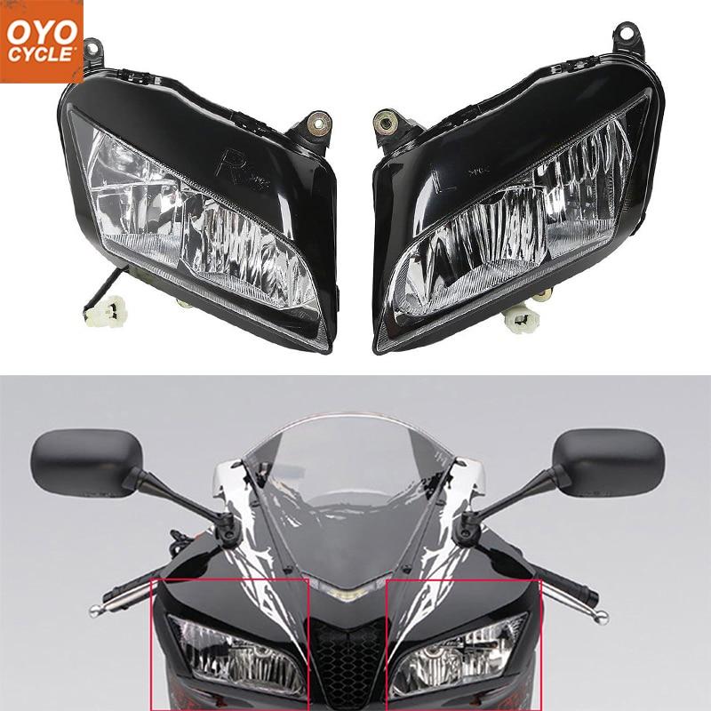 Para Honda CBR CBR600R 07-12 600RR Motocicleta Frente Farol Head Light Lâmpada Farol 2007 2008 2009 2010 2011 2012