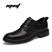 Genuine Leather Dress Shoes Handmade Plus Size Oxfords Shoes Men Mesh Wedding Business Men Shoes цены