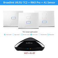 Broadlink TC2 UK EU Smart Home RF Touch Light Switches 123Gang 110V 220V Remote Control Wall