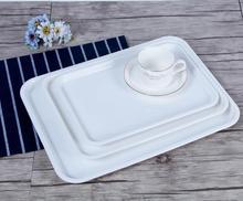 Hot Weiß Melamin Tablett Widerstand zu fallen rechteckigen cup tray hotel restaurant Brot und gebäck teller dessertteller tablewar