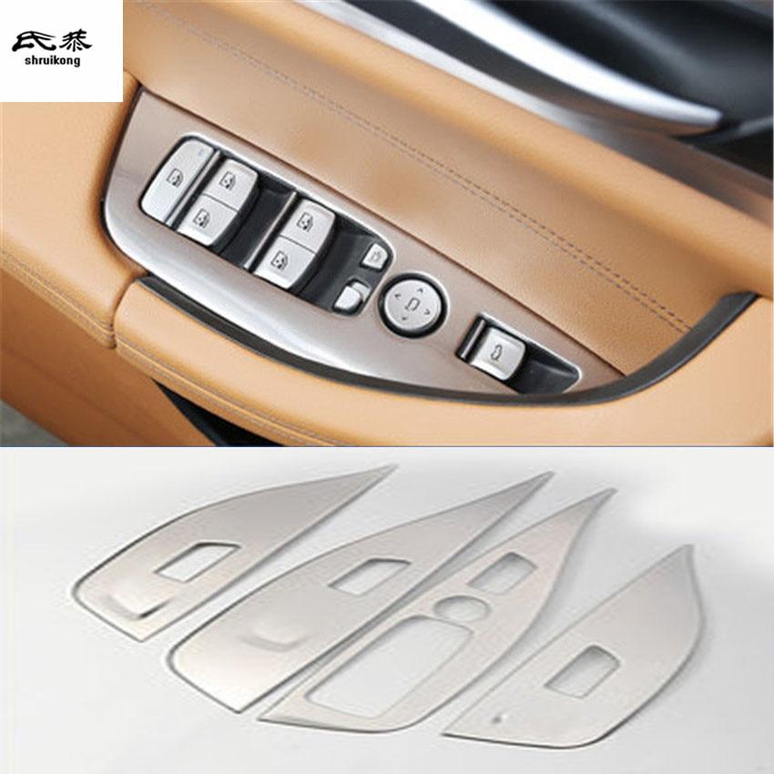 4 pcs/lot couvercle de décoration de panneau de lève-vitre de voiture en acier inoxydable pour 2017-2018 BMW X3 G01 accessoires de voiture