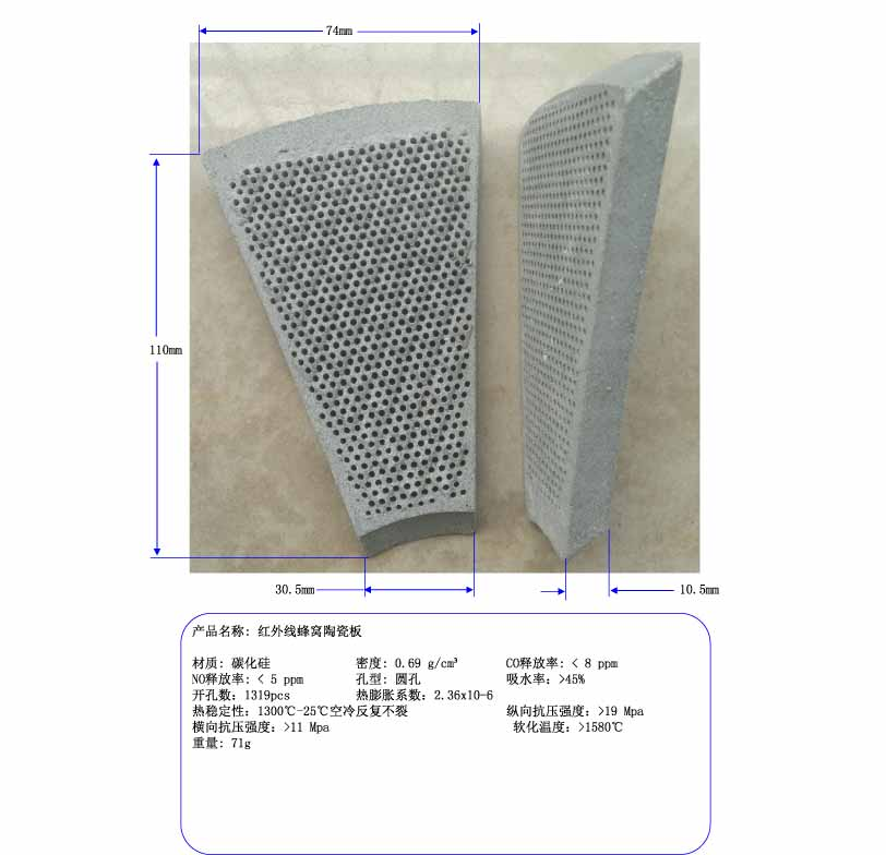 The 300 Infrared Ceramic Honeycomb Plate, Energy Saving Stove Tiles