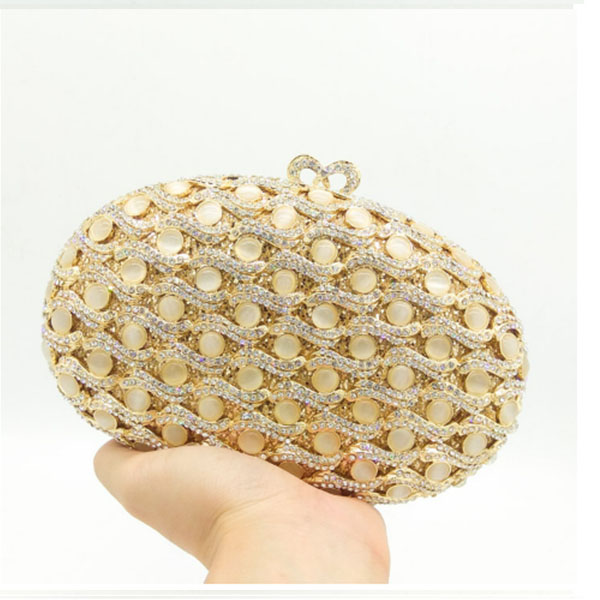 Gold wedding evening bags Luxury diamond banquet bride clutch bags golden flower party clutch bags chain wedding pochette bags new women diamond wedding bride shoulder crossbody bags gold clutch beaded tassel evening bags party purse banquet handbags li29