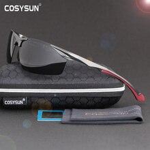 Мужские поляризованные алюминиевые солнцезащитные очки без оправы, мужские очки для вождения, HD поляризованные солнцезащитные очки, мужские очки, спортивные очки Oculos de sol 8585