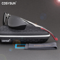 2016 Mens Polarized Rimless Aluminum Sunglasses Driving Outdoor Sports Polarised Eyewear Goggle Oculos Goggle Sun Glasses
