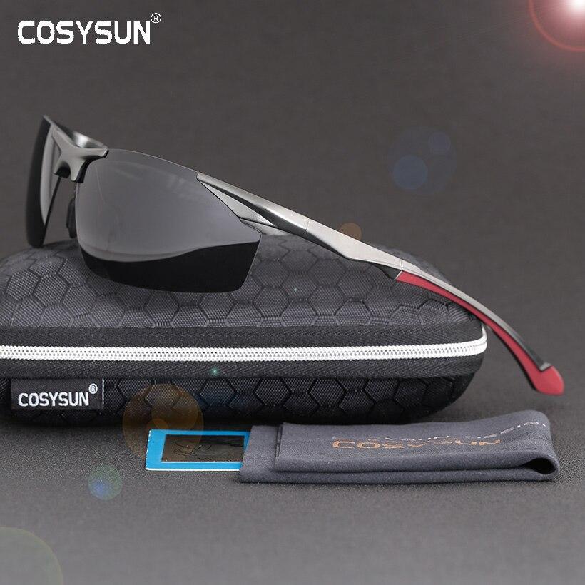 2018 männer Polarisierte Randlose Aluminium Sonnenbrille Mann Fahren gläser HD Polarisierte Sonnenbrille Männlichen Goggle Sport Oculos de sol 8585