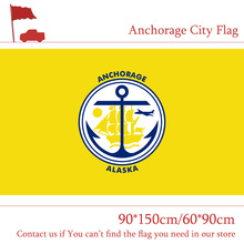 Free shipping US Anchorage City Flag 90*150cm 60*90cm State of Alaska Banner