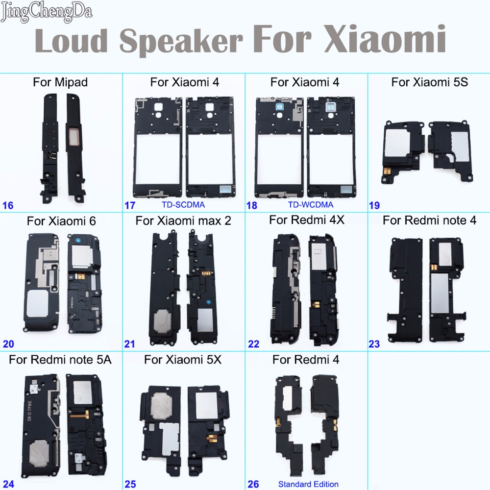 JCD Tested Loud Speaker Loudspeaker Buzzer For Redmi 4X / Note 4/ Note 5A/ 4 For Xiaomi Mipad /mi4 / Mi5s/mi6 /max 2