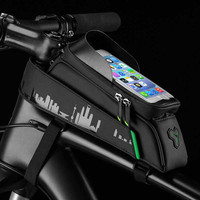 Front Tube Phone Bicycle Bag Touch Screen Cycling Bike Bag Waterproof Frame Panniers For 5.8/6 Inch Accessories