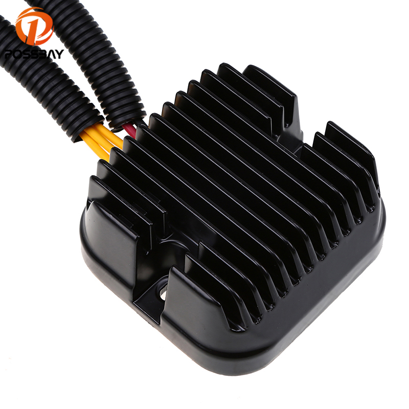 POSSBAY Aluminum Motorcycle Voltage 12V Regulator Rectifier fit for Polaris Sportsman ACE 325 2015 4013904 Scooter Rectifiers regulator rectifier for polaris atv ranger sportsman hawkeye 400 500 improved 4011569 4011925 4012192 motorcycle accessory m076