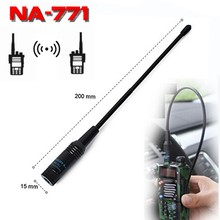 for Nagoya NA-771 SMA-F Handheld Dual Band Antenna NA771 SMA Female U/VHF Two Way Radio Flexible Soft Antena for Baofeng/Kenwood(China)