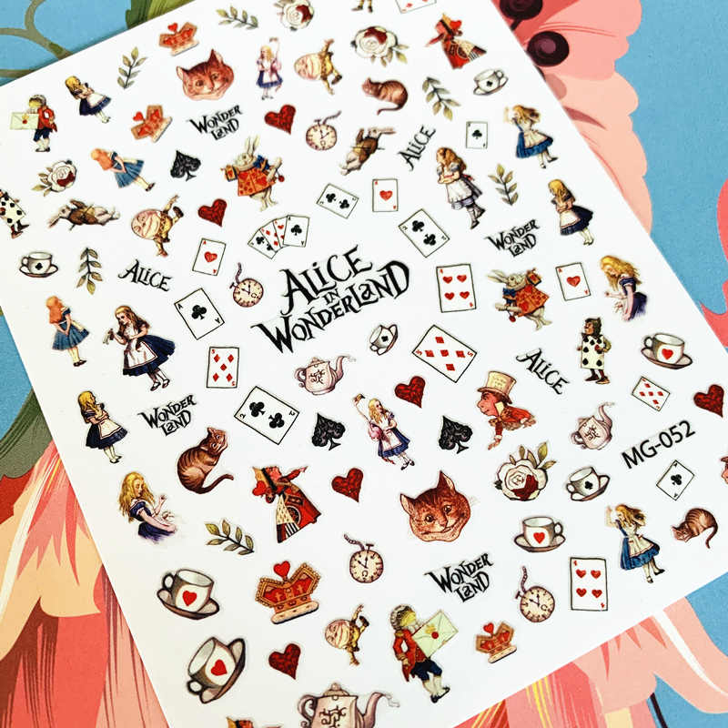 Newest MG-052 poker letter 3d nail art sticker nail decal stamping export japan designs rhinestones  decorations