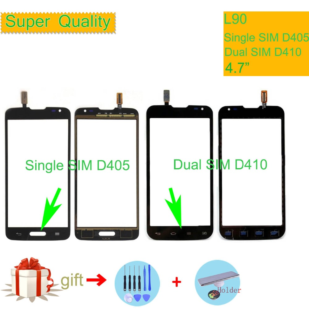Touchscreen For LG L90 Dual D410 Single D405 D405N Touch Screen Touch Panel Sensor Digitizer Front Glass Outer Lens Replacement