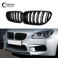 Auto Exterior Replacement Central Grilles For BMW 6 Series F13 F12 F06 640i 650i M6 640d 2012+ Gloss Black Racing Grills Sale