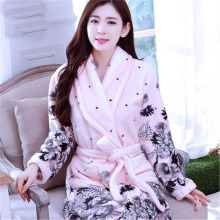 Robe sexy The new flannel nightgown bathrobe couple pajamas home service robes men and women of coral velvet robe bathrobe
