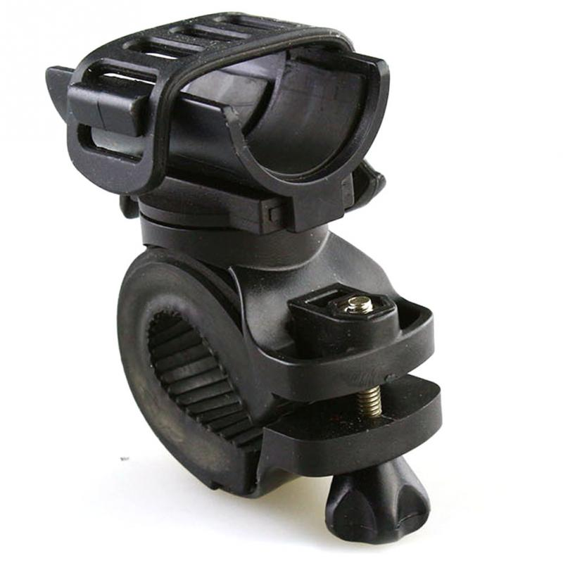 Portable Cycling Bike Bicycle Light Lamp Stand Holder Rotation Grip LED Flashlight Torch Clamp Clip Mount Bracket Accessories