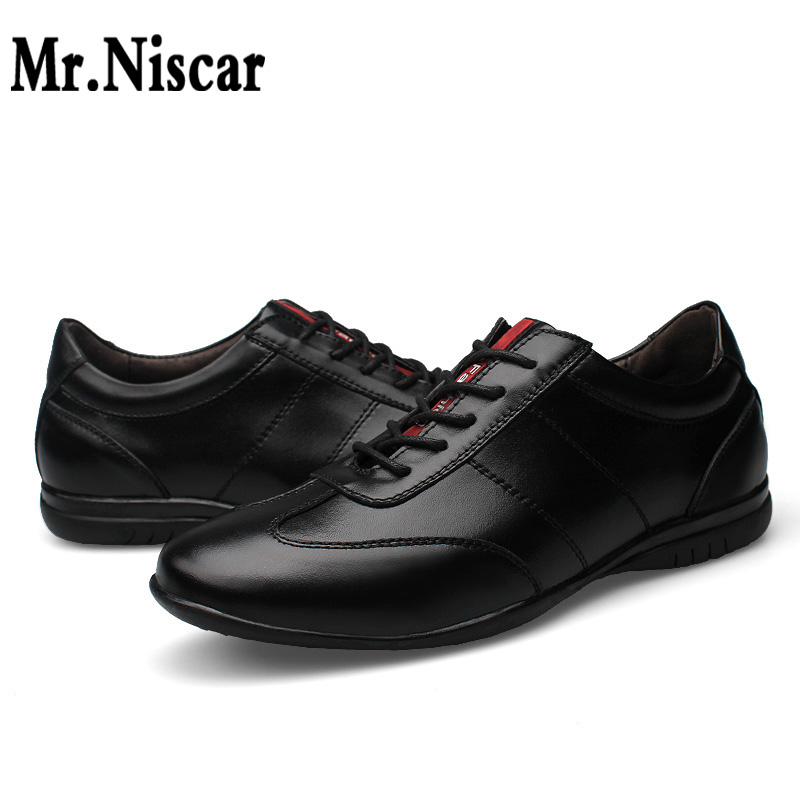 Mr.Niscar Men Leather Shoes 2016 Men's Genuine leather Oxfords Fashion Office Shoes for Man Fashion Men Leather Wedding Shoes