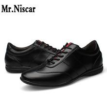 Mr.Niscar Men Leather Shoes 2016 Men's Genuine leather Oxfords Fashion Office Shoes for Man Fashion Men Leather Wedding Shoes