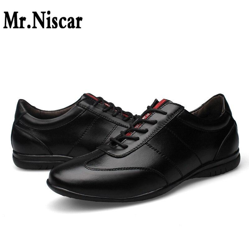 Sr. Niscar Hombres Oficina de La Manera Zapatos de Cuero Genuino  de Los Hombres