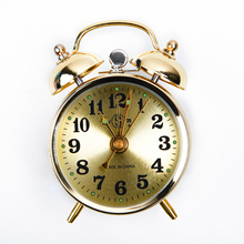 Horseshoe Gold Mechanical/Electronic Alarm Clock Noctilucent Rod/Bell Manual Wind Up Spring Classic Vintage Creative Motorcycle