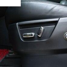 4 шт./компл. Автомобильные Аксессуары Для Land Rover Freelander 2 2007-2015 ABS Chrome Сиденья Регулировка Кнопка Крышки Обрезать Новый