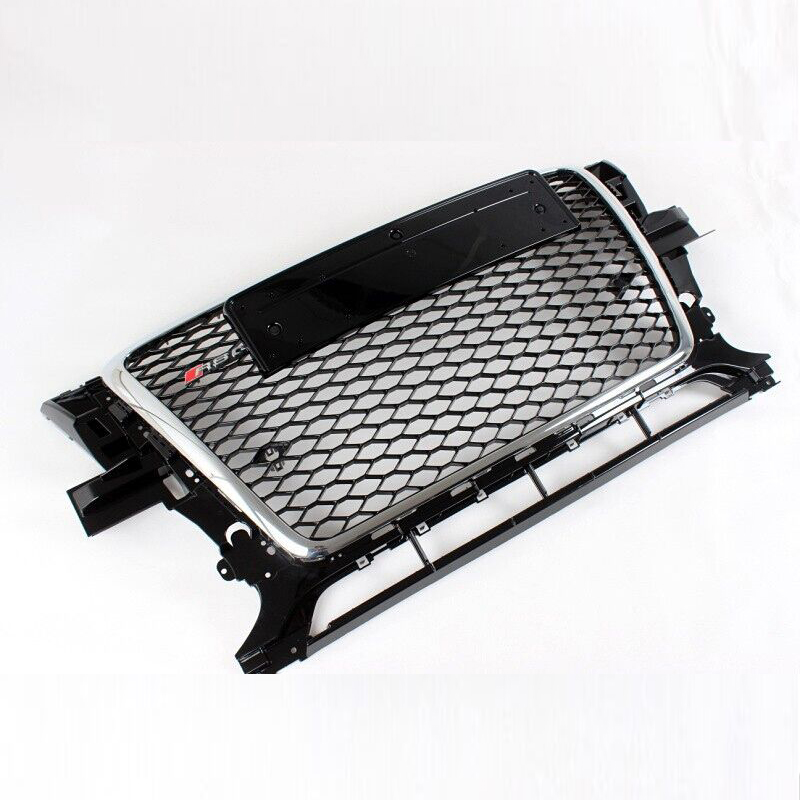 2009~2012 RSQ5 Style Chrome Frame Front Bumper mesh Honeycomb Grill Grille For Audi Q5