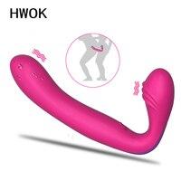 Strapless Strapon Dildo Vibrators for Women Double motor massage anal Clitoris vaginal G spot Gay Adult Sex Toys for Couple