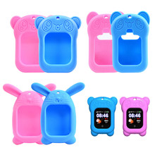 Protective Cover Soft Silicone Cute Cartoon Waterproof Shockproof Strap for Q90 Baby Children's Watch Smart Accessorie(China)