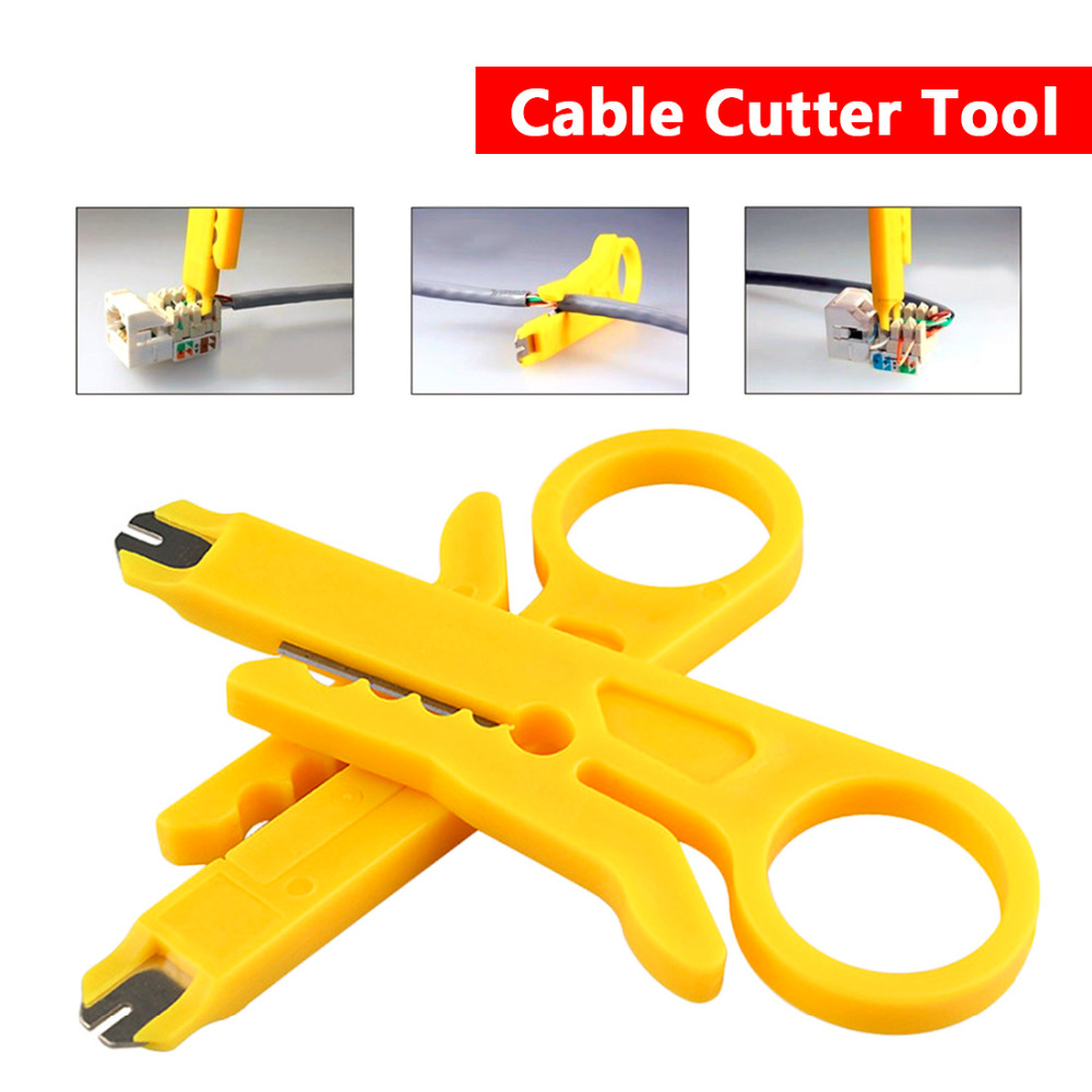 Cable Cutter Wire Tool 9cm UTP Stripper Cable Cutter Network Cable Wire Pliers Stripper Rotary Punch Down Tool high quality mk bxq 80b cable wire stripper cutter tool wire pliers clamp china