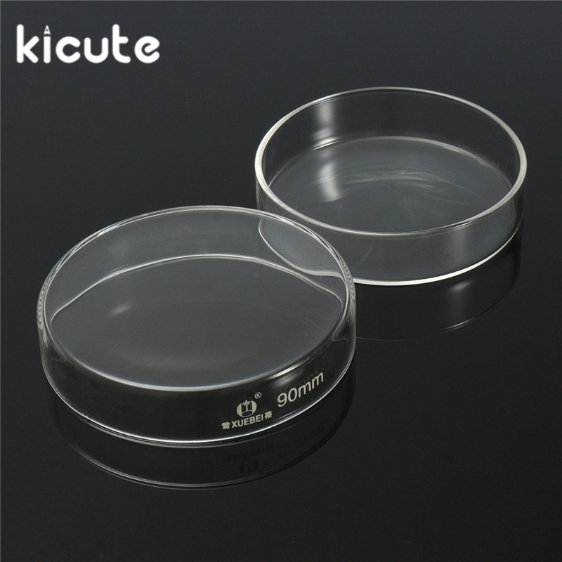KiCute 5Pcs 90mm Glass Petri Dish Cell Culture Vessels for Laboratory Adherent Animal Cells Microbial Cultivation Lab Glassware viruses cell transformation and cancer 5