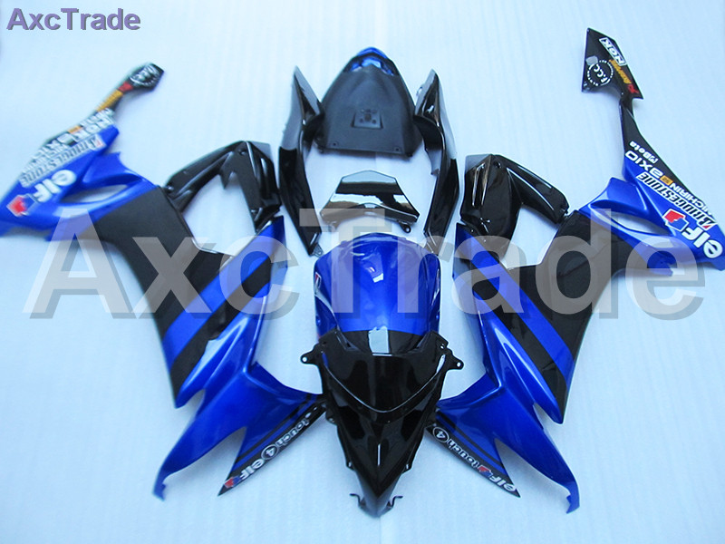 цены Blue Black Moto Fairing Kit For Kawasaki Ninja ZX10R ZX-10R 2008 2009 2010 08 09 10 Fairings Custom Made Motorcycle Bodywork