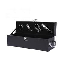 Creative PU Leather Wine Box Opener Tools