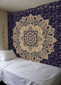 Image 5 - Tapiz de Mandala indio para colgar en la pared, alfombra de playa de arena, manta, tienda de campaña, colchón de viaje, almohadillas bohemias para dormir, tapices