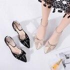 casual shoes flat sandals belt fastener schoenen Solid Color strappy heels soulier femme tacones sandalias butterfly knot