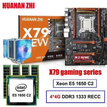 Discount motherboard set HUANAN ZHI X79 gaming motherboard with M.2 slot CPU Xeon E5 1650 C2 with cooler RAM 16G(4*4G) REG ECC - DISCOUNT ITEM  50% OFF All Category