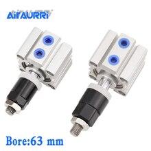 SDAJ Bore 63mm x5/10/20/30/40/50/-5-SB adjustable cylinder Compact Cylinder
