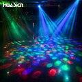 Fashion LED Lamp E27 Moving Head Stage Lighting Laser Crystal Auto Rotating RGB LED Par DJ Controller disco ball party light