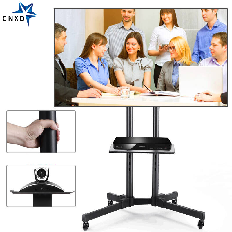 Universal TV Cart Height Adjustable Mobile TV Trolley Stand for 32-65LED LCD Plasma TV with Adjustable AV Shelf Camera HolderUniversal TV Cart Height Adjustable Mobile TV Trolley Stand for 32-65LED LCD Plasma TV with Adjustable AV Shelf Camera Holder