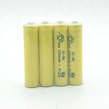 10pcs/lot Ni-MH 1.2V AAA Rechargeable Battery 2200mAh 3A Neutral Battery Rechargeable battery for toys cameragreen Free Shipping