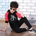 Meninos conjunto de roupas infantis Ternos Do Esporte Conjuntos de Roupas New Outono Criança Com Capuz Grande Girl & Boy Tops + Calças Define 3 4 5 6 8 anos